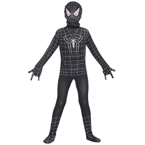YUNMO Halloween Cosplay Anime Kostüm Kinder Spiderman Strumpfhosen Show Venom Cos (größe : XL)