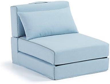 Kavehome Puf cama Arty, azul claro