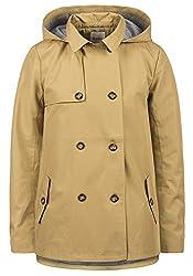 DESIRES Tine Damen Trenchcoat Mantel Übergangsjacke mit Kapuze, Größe:M, Farbe:Sand (4073)