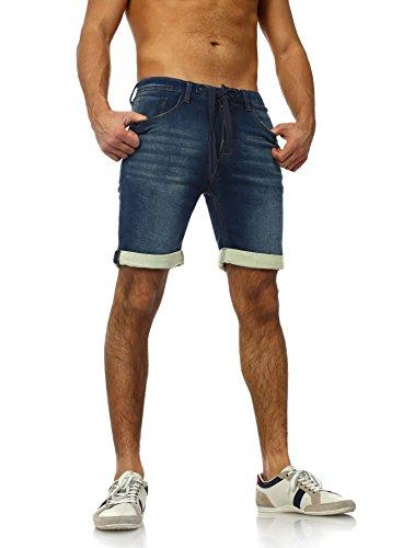 Sweat Jeans Denim Jogger Shorts Sommer Kurze Hose Sublevel 98-86 dunkelblau Dunkelblau