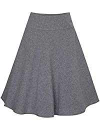 Berwin & Wolff Damen Trachten-Mode Rock Caroline in Grau 60 cm traditionell