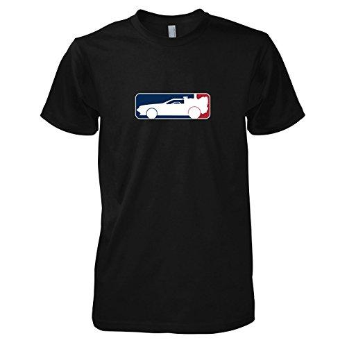 e - Herren T-Shirt, Größe M, schwarz (Zurück In Die Zukunft Doc Kostüme)