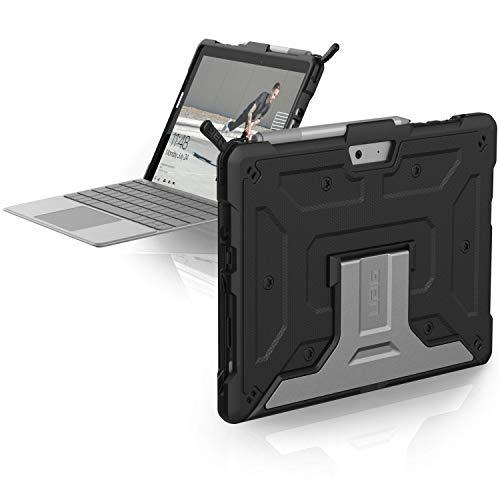 Urban Armor Gear Metropolis Schutzhülle für Microsoft Surface Go - schwarz [Microsoft Zertifiziert I TypeCover Kompatibel I Surface Pen Halter I Stoßfest I Standfunktion] - 321076114040