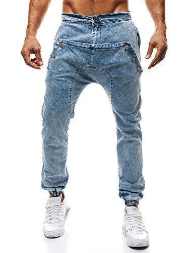 OZONEE Uomo Cascante Jogging Jogger Pantaloni Jeans Taglio Straigh Pantaloni sportivi Jeans Aderenti Jeans Skinny (Frontale Jeans Aderenti)