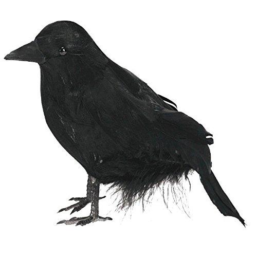 m, klein, mit Federn (Krähe Kostüm)