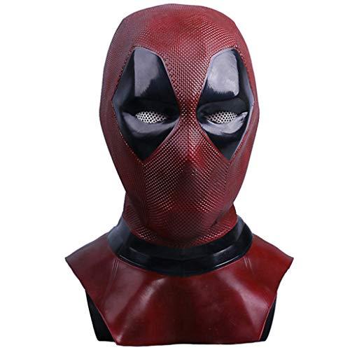 Liabb Deadpool Maske Männer Kostüm Film Cosplay Kostüm Replik Maske Kopf Cosplay Halloween Kinder Kopf Maske,A,Within56CM (Kostüm Replik Batman)