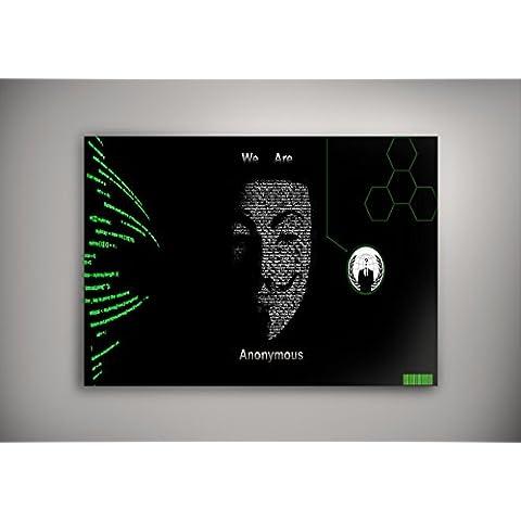 Foto Artistica 10141, We are Anonymous, Poster di Carta Manifesto Cartellone Design Art Foto Deco Print Immagine con Disegno Colorato. Dimensione: 18