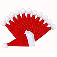 Amosfun Christmas Santa Hats Silverware Holders Mini Santa Hat Cup Bottles Christmas Mini Santa Hats Xmas Holiday Party Dinner Table Supplies 24PCS