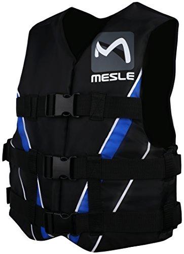 MESLE Schwimmweste Vario PE, 50N Dual-Size Schwimmhilfe, schwarz-blau-weiss