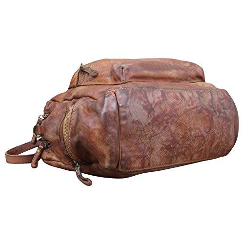 Vintage Marrone In A Messenger Tracolla Made Used Marrone Effetto Borsa A Borsa Tracolla Pelle Italy Colore In Zxzwf