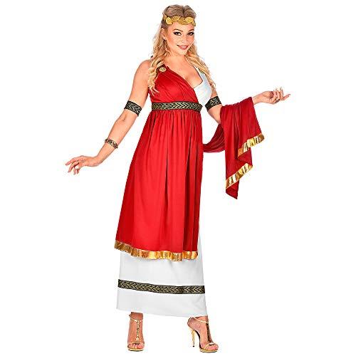 Römische Kostüm Damen Kaiserin - Widmann 09100 Kostüm Römische Kaiserin, Damen, Rot/Weiß, XXL