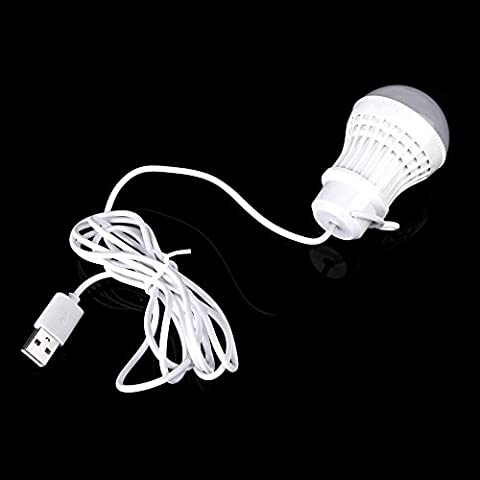XIE@ Mobile 5V 5W lampada lampadina LED con USB interfaccia