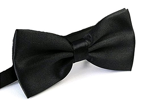 Westeng Pajarita Corbata Corbata Ajustable De Poliéster Para Vestidos Formales El Bodas Partido De Fumar Restaurante Concierto Otras Ocasiones,Negro1Pcs
