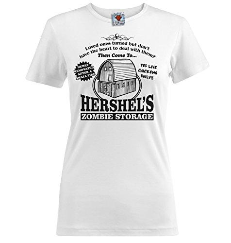 Bullshirt Damen Hershel 's Zombie Aufbewahrung T-Shirt weiß