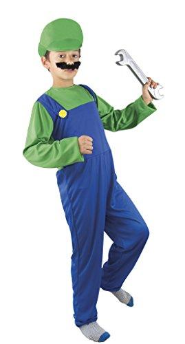 Unbekannt P 'Tit Clown–60361–Kostüm ADO Klempner Grün/Blau–140/160cm–Einheitsgröße