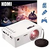 SLB Works Brand New Mini Portable Multimedia LED Projector Home Cinema Theater AV USB TF HDMI 1080P