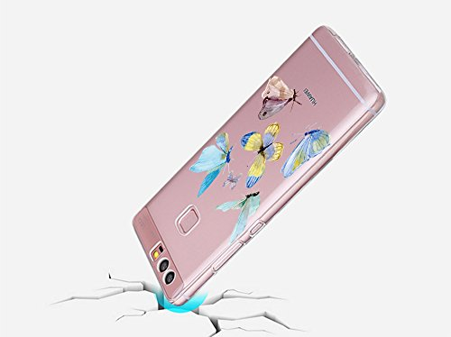 Huawei P9 Case, Teryei® Hybrid Flexible TPU Stoßfänger Apfel Case Persönliche schlanke Kristall Silikon Hülle für Huawei P9 4