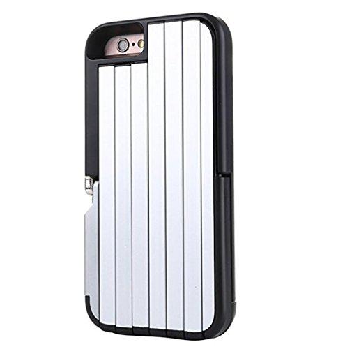 L&ZR Farbige Rahmen Telefon Schutzhülle - Selfie Stick Case Für Iphone 5/5S/6/6S/SE,Black