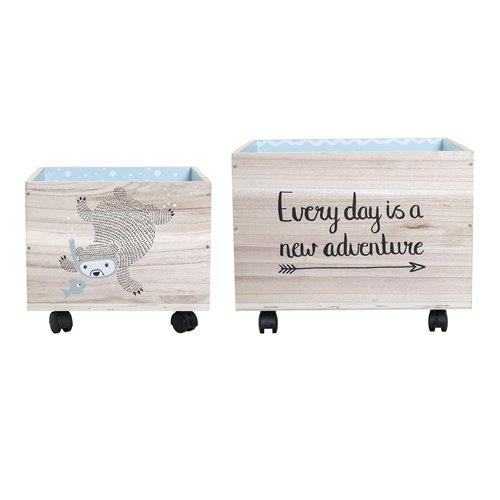 Bloomingville Caja de almacenamiento 2pieza de madera en diferentes colores