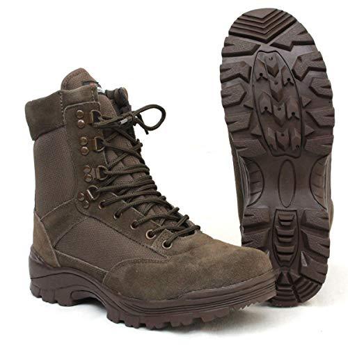 Mil-Tec Tactical Boots m. YKK Zipper braun Gr.10/ EU43 -