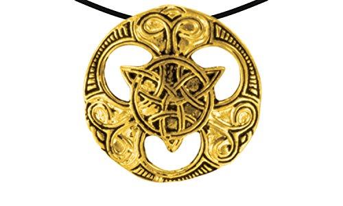 Wikinger / LARP / keltisch / Mittelalter Anhänger, verzinnt und nickelfrei (Anhänger Keltischer Knoten gold) ()