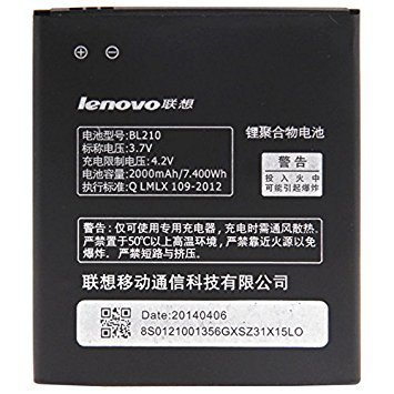 EASY Genuine Battery Compatible For Lenovo A536 , A656, A658T, A750E, A766, A770E, S650, S658T,S820,(BL210) 2000mAh Battery  available at amazon for Rs.610