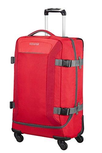 American Tourister Road Quest Borsone Spinner M Valigia, Poliestere, Solid Red, 62 litri, 67 cm