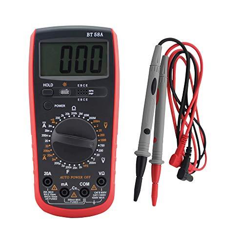 BESTSUGER Digital-Multimeter, Multi-Tester mit hintergrundbeleuchtetem LCD-Display für den Heimcomputer-Test