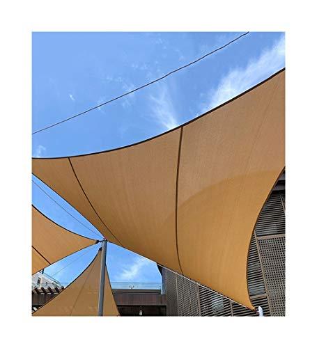 YUDEYU Beschattungsnetz Sonnencreme Hochwertig Beruf Isoliertes Segel Arc Vier Ecken Markise (Color : Beige, Size : 3x4m)