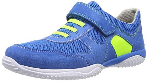 Superfit Jungen Storm Sneaker, Blau/Gelb 81, 35 EU -