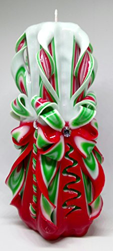 carved-candle-red-with-green