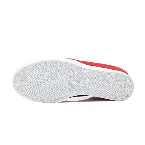 balamasa Mesdames kitten-heels Round-Toe Optimiser à enfiler à l'intérieur en caoutchouc pumps-shoes red