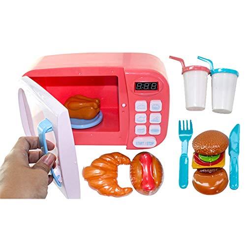 ZUJI Juguete de Microondas Horno Cocina Juguetes con Luz para Niños,