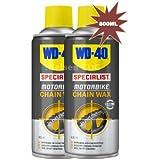 WD-40 Lot de 2 bouteilles de cire pour chaîne de moto 400ml = 800ml