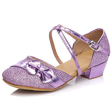 Ruhe @ Kids 'Dance Schuhe latin/Salsa/Flamenco/Samba Synthetik Low Absatz blau/pink/lila/rot rose