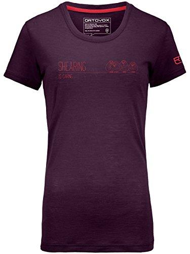 Damen Skiunterwäsche Ortovox 150 Cool Shearing Tech Tee (Tencel T-shirt Hoch Großen)