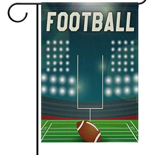 fdgjfghjdfj Fall and Football Garden Flag 12 x 18, American Football Stadium Funny Sports Soccer Ball Double-Side House Yard Outdoor Flags Banner for Football Party Favor -