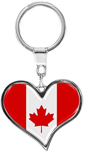 metALUm Schlüsselanhänger aus Metall / Flagge Kanada - / 6611011S
