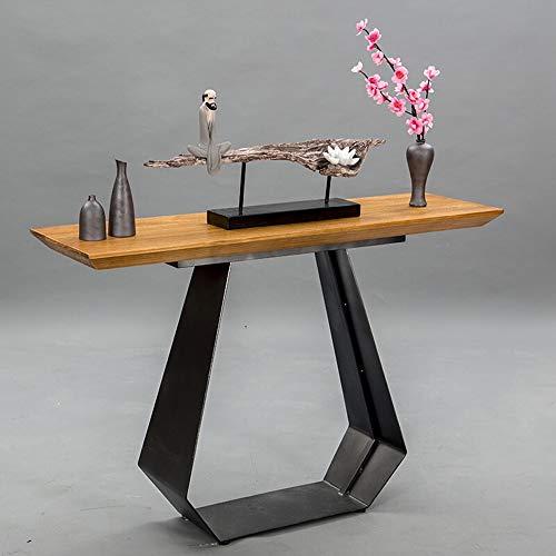 Oipoodde Wohnzimmerschrank Einfache Massivholz-Konsole Tabelle New chinesischen Stil Tabelle Halle Schrank, Sofa, Tisch Lagerschrank (Color : Light, Size : 100x35x75cm) -