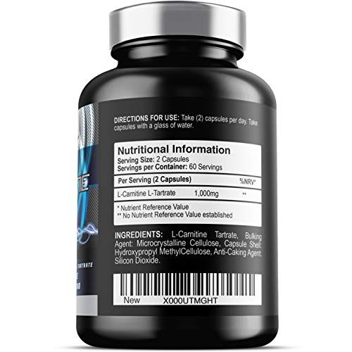 41Q66VskcwL. SS500  - Iron Labs Nutrition, L Carnitine Xtreme - 500mg x 120 Capsules - L Carnitine Tartrate Supplement, Vegetarian Capsules