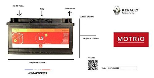 Batteria Auto 12v 90 Ah 750 A OE 8671016935