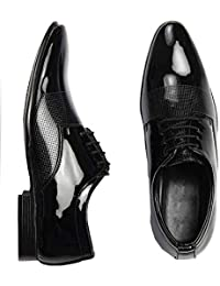 DEEKADA with device dk Men's Patent Leather Shoes
