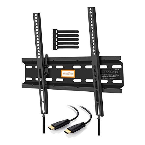 Perlegear PGMTK1-E - Soporte TV de Pared Articulado Inclinable, para Pantallas de 23-55'' LCD OLED, Brazo Ultra Fuerte para Soportar 60 kg, Cable HDMI Incluidos