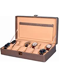 Hardcraft® Watch Box Case PU Leather Grey Croco For 12 Watch Slots