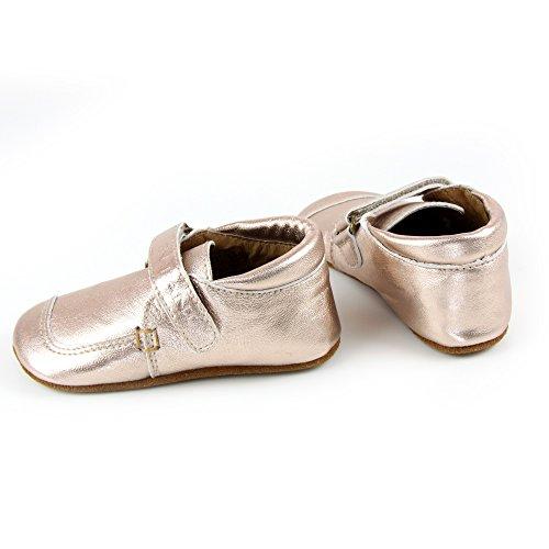 EnFant Mädchen und Jungen Baby- und Kinder Lederschuhe/Hausschuhe, Slipper Velcro, 815102 Kupfer