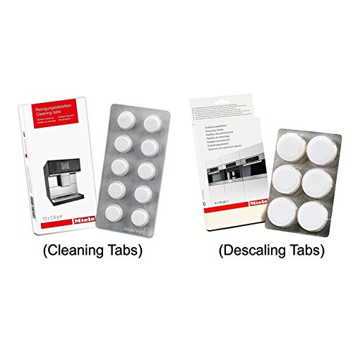 Price comparison product image Miele Coffee Machine Cleaning Tablets (10pk) & Descaling Tablets (6pk) by Miele