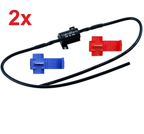LP B547-2 2 Stück Lastwiderstand Widerstand T10 5Watt W5W C5W H6W bax9s CanBus bis 10Watt 39ohmLED SMD Standlicht Kennzeichenbeleuchtung Parklicht ohne Fehlermeldung Blinker Nummernschildbeleuchtung