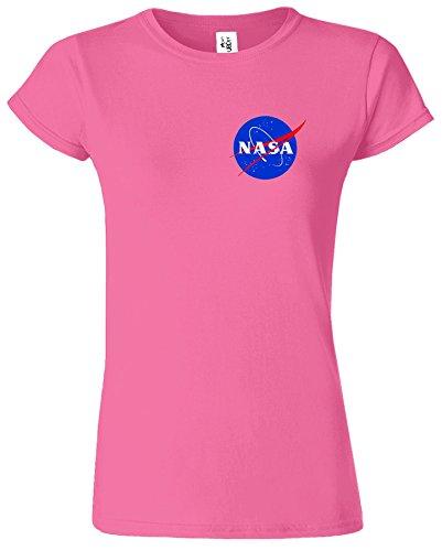 Nasa National Space Packet Pocket America Dames T Top T-Shirt Azalea