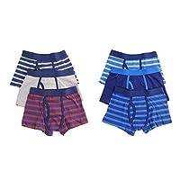 Hari Deals Boys Children Key Hole Boxers Trunks Underwear Shorts Pants 6 Pack,Multicolor,7-8 Years