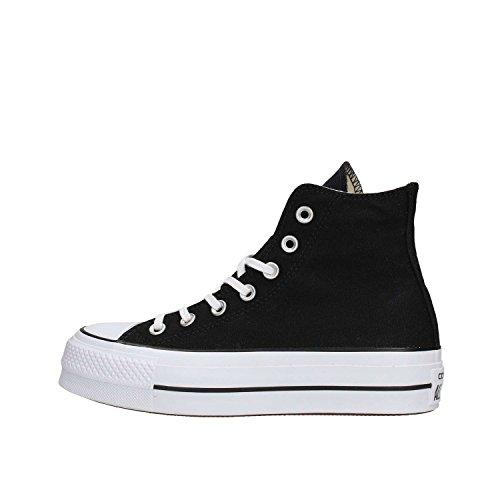 Converse Unisex-Erwachsene CTAS Lift Hi Black White Hohe Sneaker, Schwarz (Black 001), 36 EU (Converse Girls High Tops)